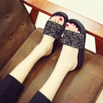 Fashion bright diamond sandals non-slip flash face sandals QF1102