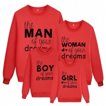 Wholesale Price Letters Printed Couple&Family Autumn Hoodie AYY2131
