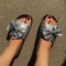 Sandals large size bow slippers QF2122